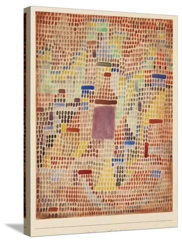 With the Entrance-Paul Klee-Stretched Canvas Print