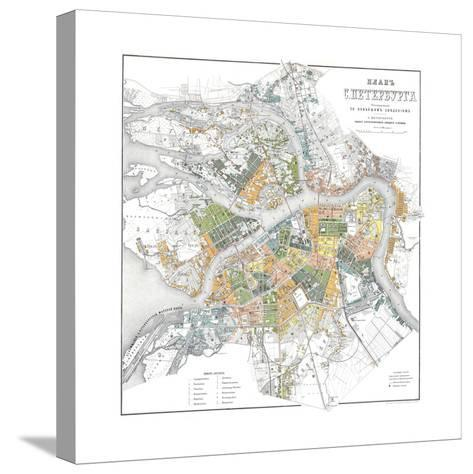 Map of Petersburg--Stretched Canvas Print