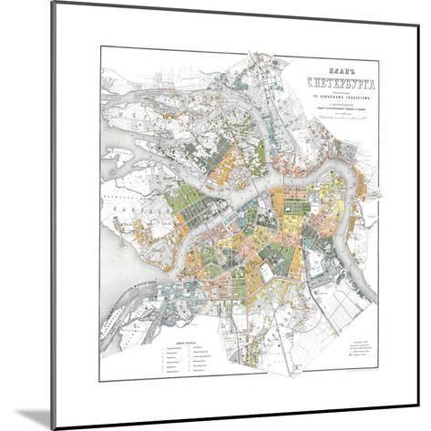 Map of Petersburg--Mounted Giclee Print