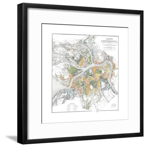 Map of Petersburg--Framed Art Print