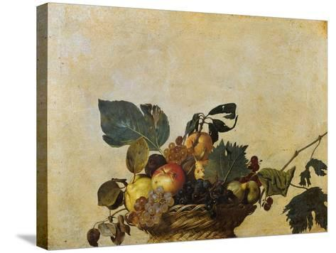 Basket of Fruit-Caravaggio-Stretched Canvas Print