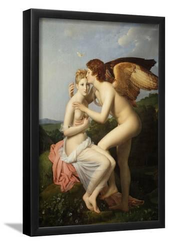 Cupid and Psyche-Fran?ois Pascal Simon G?rard-Framed Art Print