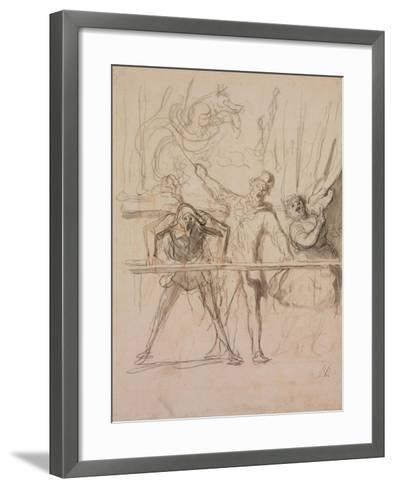 The Side-Show-Honor? Daumier-Framed Art Print