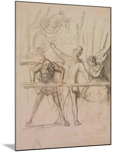 The Side-Show-Honor? Daumier-Mounted Giclee Print
