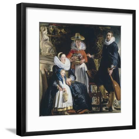 The Painter's Family-Jacob Jordaens-Framed Art Print