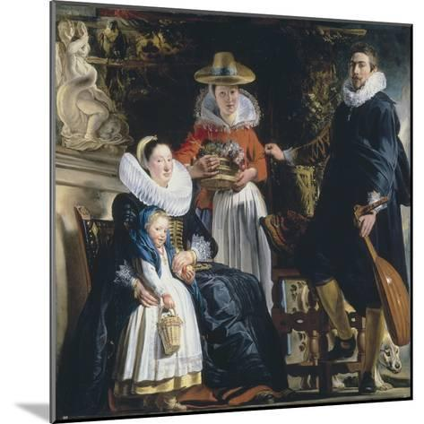The Painter's Family-Jacob Jordaens-Mounted Giclee Print