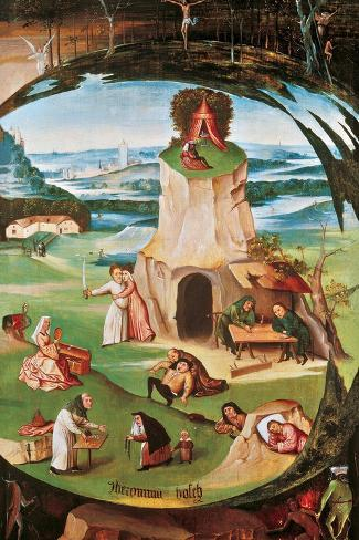 The Seven Deadly Sins-Hieronymus Bosch-Stretched Canvas Print