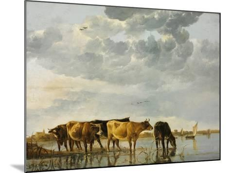 Cows in a River-Aelbert Cuyp-Mounted Giclee Print