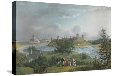 View of the Ivangorod Fortress-Johannes Hau-Stretched Canvas Print