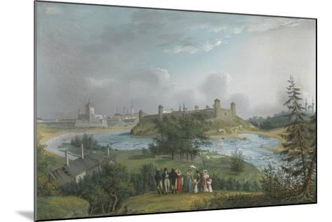 View of the Ivangorod Fortress-Johannes Hau-Mounted Giclee Print