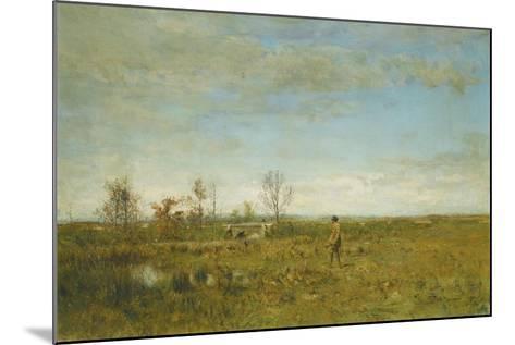 Hunters in Pont Long-Ivan Pavlovich Pokhitonov-Mounted Giclee Print