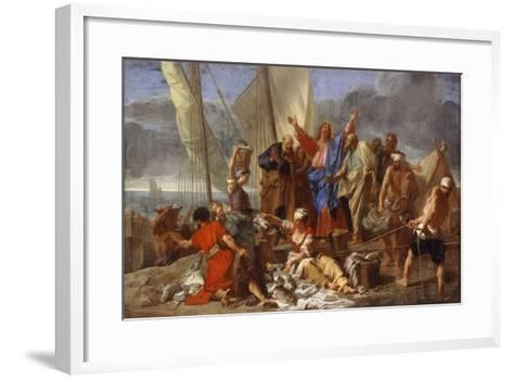 The Miraculous Draught of Fishes-Jean Jouvenet-Framed Art Print