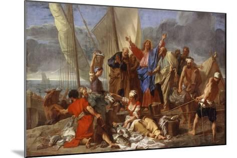 The Miraculous Draught of Fishes-Jean Jouvenet-Mounted Giclee Print