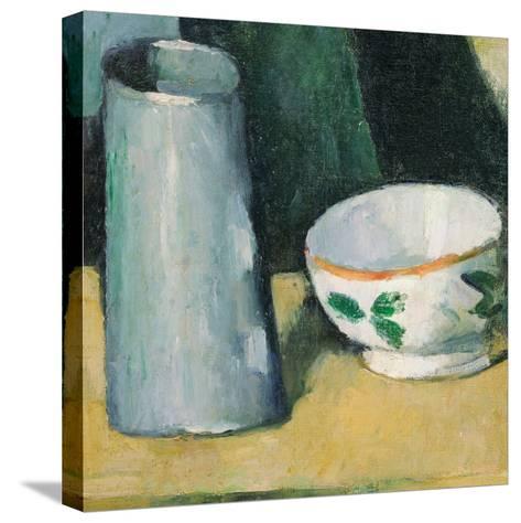 Bowl and Milk-Jug-Paul C?zanne-Stretched Canvas Print