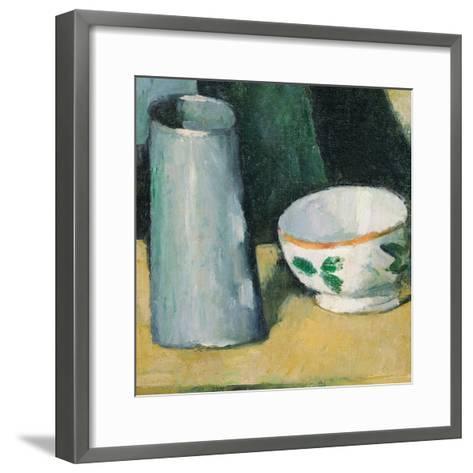 Bowl and Milk-Jug-Paul C?zanne-Framed Art Print
