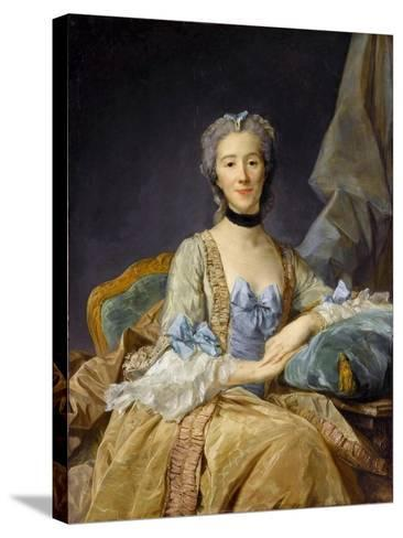 Madame De Sorquainville-Jean-Baptiste Perronneau-Stretched Canvas Print