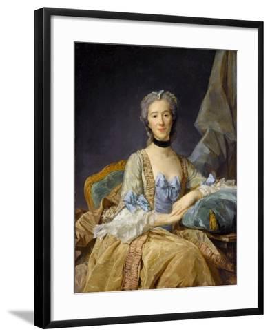 Madame De Sorquainville-Jean-Baptiste Perronneau-Framed Art Print