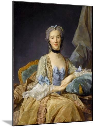Madame De Sorquainville-Jean-Baptiste Perronneau-Mounted Giclee Print