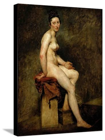 Mademoiselle Rose (Seated Nude)-Eugene Delacroix-Stretched Canvas Print