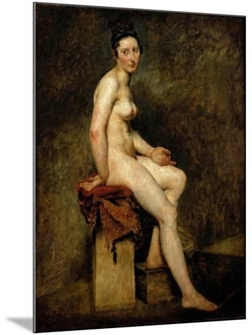 Mademoiselle Rose (Seated Nude)-Eugene Delacroix-Mounted Giclee Print