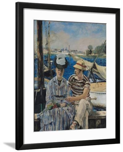 Argenteuil-Edouard Manet-Framed Art Print