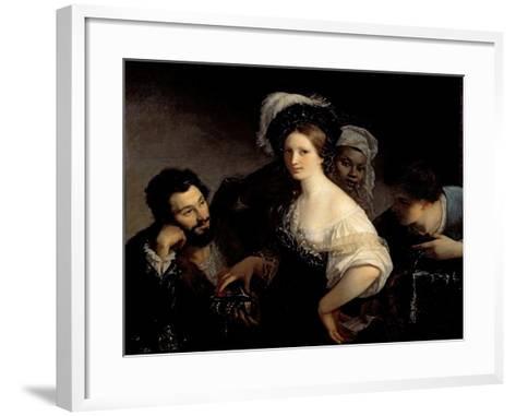 The Young Courtesan-Alexandre Francois Xavier Sigalon-Framed Art Print