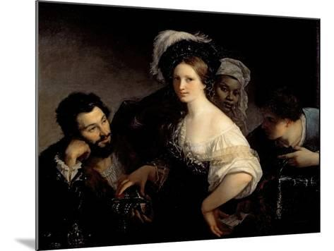 The Young Courtesan-Alexandre Francois Xavier Sigalon-Mounted Giclee Print