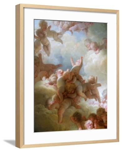 The Swarm of Cupids-Jean-Honor? Fragonard-Framed Art Print