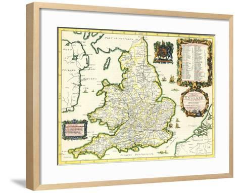 Britannia Atlas, 1675-John Ogilby-Framed Art Print