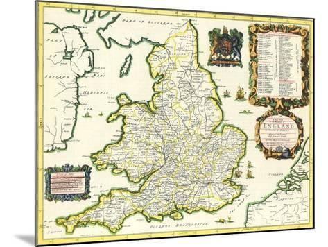 Britannia Atlas, 1675-John Ogilby-Mounted Giclee Print