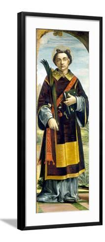 Saint Stephen-Bernardo Zenale-Framed Art Print