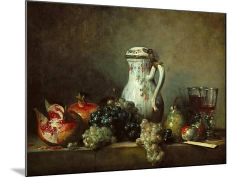 Grapes and Pomegranates-Jean-Baptiste Simeon Chardin-Mounted Giclee Print