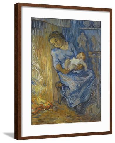 L'Homme Est En Mer-Vincent van Gogh-Framed Art Print