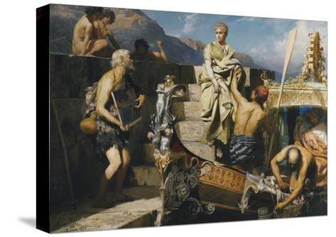 Shipwrecked Beggar-Henryk Siemiradzki-Stretched Canvas Print