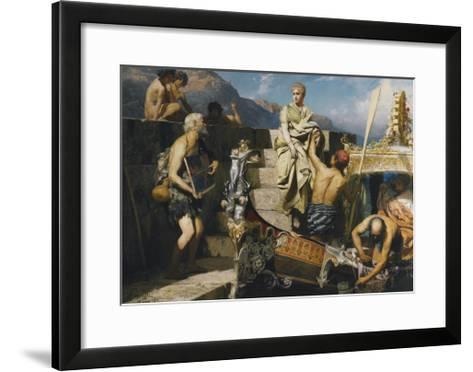 Shipwrecked Beggar-Henryk Siemiradzki-Framed Art Print