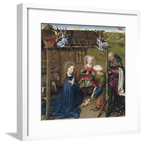 The Nativity-Jacques Daret-Framed Art Print