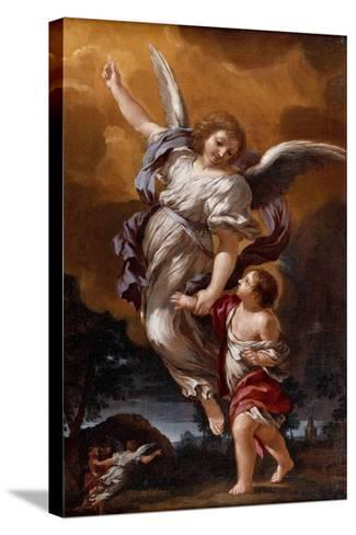The Guardian Angel (After Pietro Da Corton)-Ciro Ferri-Stretched Canvas Print