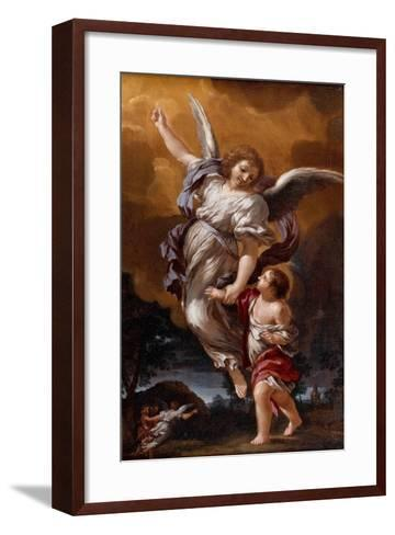 The Guardian Angel (After Pietro Da Corton)-Ciro Ferri-Framed Art Print