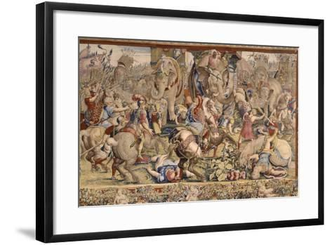 The Battle of Zama-Giulio Romano-Framed Art Print