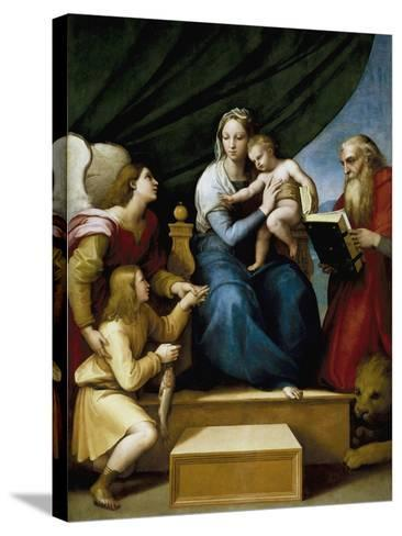 Madonna with the Fish-Raphael-Stretched Canvas Print