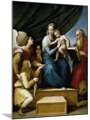 Madonna with the Fish-Raphael-Mounted Giclee Print