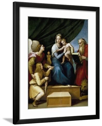 Madonna with the Fish-Raphael-Framed Art Print