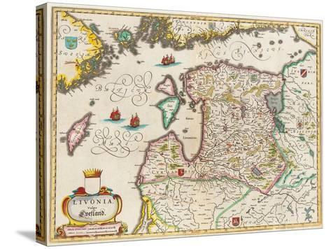 Livonia Map, Vulgo Lyefland, Atlas Maior-Joan Blaeu-Stretched Canvas Print