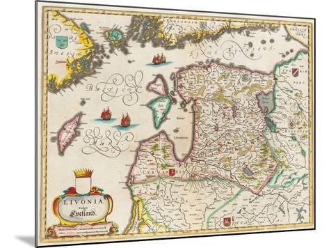 Livonia Map, Vulgo Lyefland, Atlas Maior-Joan Blaeu-Mounted Giclee Print