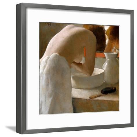 Woman Washing-Armand Rassenfosse-Framed Art Print