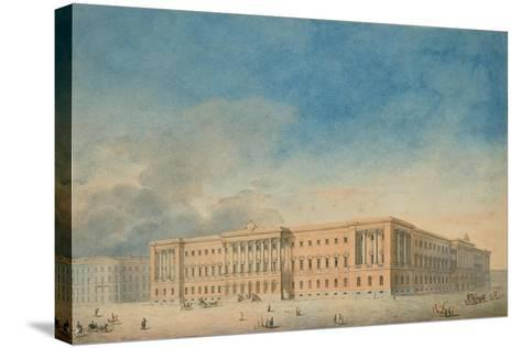 Lobanov-Rostovsky Palace in Saint Petersburg--Stretched Canvas Print
