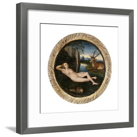 The Nymph of the Spring-Lucas Cranach the Elder-Framed Art Print