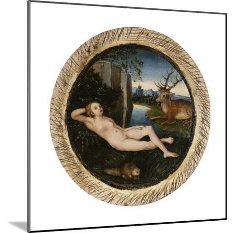 The Nymph of the Spring-Lucas Cranach the Elder-Mounted Giclee Print