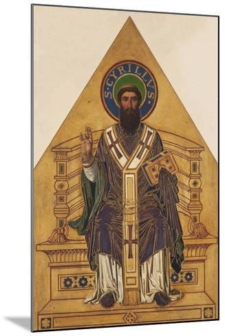 Saint Cyril-Frantisek Sequens-Mounted Giclee Print