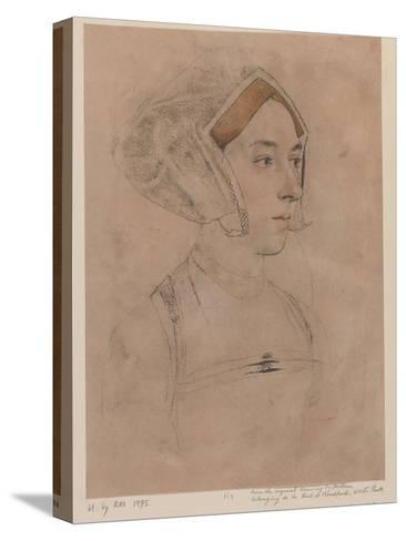 Anne Boleyn-Hans Holbein-Stretched Canvas Print
